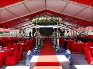 Party Wedding Tent in 10m X 18m Size in Red and White for Dining Banquet