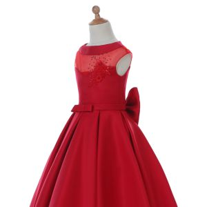 Sheer Tulle Flower Girl Dress for Wedding and Ceremonial pictures & photos