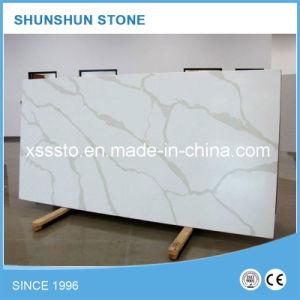 Beautiful Calacatta White Quartz Stone Slab for Decoration pictures & photos