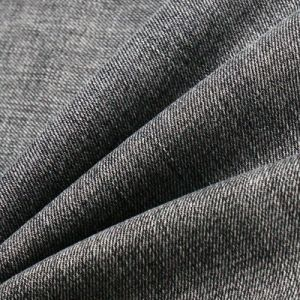Black Brushed Viscose Cotton Polyester Spandex Fabric for Denim Jeans pictures & photos