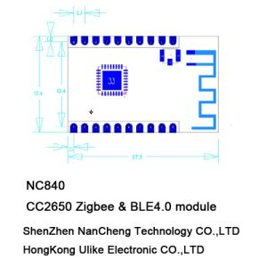 Cc2650 Zigbee BLE 4.0 Module Transceiver Module RF Module pictures & photos