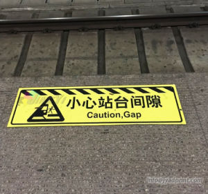 Custom Waterproof Railway/Subway Station Floor Deriction Sticker pictures & photos