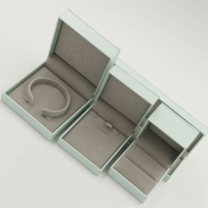 Flannelette Lint Flocking Plastic Jewelry Jewellery Box (J70-E2) pictures & photos
