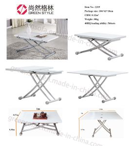 Elegant White Convertible Coffee Table pictures & photos