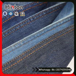 Cheap Twill Slub Denim Fabric Packing in Roll for Jeans pictures & photos