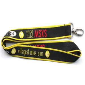 Customized Promotion Woven Neck Lanyard Gift pictures & photos