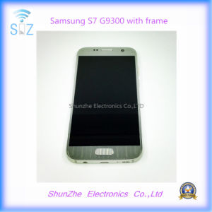 Smart Cell Phone LCD for Samsung Galaxy S7 G9300 G930f Touch Screen Display with Frame pictures & photos