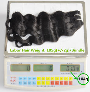 Unprocessed Labor Hair Extension 105g (+/-2g) /Bundle Natural Brazilian Virgin Hair Deep Wave 100% Human Hair Weaves Grade 8A pictures & photos