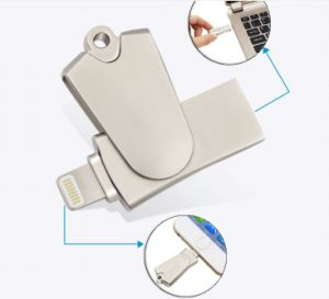 Swivel Mini Iflash Drive HD Card Reader for Ios System Support TF/SD Card (OM-R005) pictures & photos