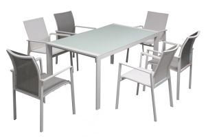 Garden Patio Furniture Dining Set Textylene Outdoor Batyline Aluminum Furniture pictures & photos