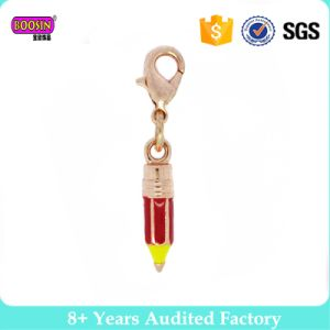 Unique Rose Gold Enamel Metal Alloy Pencil Charms for Bracelets pictures & photos