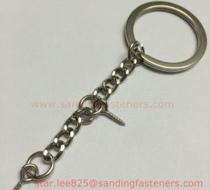 Iron Key Rings with Long Chain pictures & photos