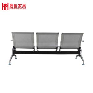 Hot Sale Durable Steel Silver Plating Waiting Chair with Good Price pictures & photos