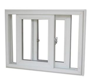 French Standard Double Plastic PVC / UPVC Sliding Glass Window pictures & photos