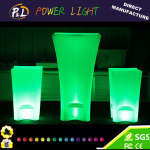 Hot Sales Event Furniture Party LED Light Square Cocktail Tables pictures & photos