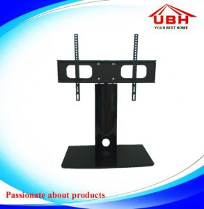 Aluminum Tube and Tempered Glass Mini TV Stand pictures & photos