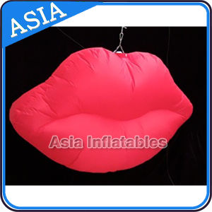 Customized New Design LED Light Giant Inflatable Mouth Model, Inflatable Sexy Lip / Mouth for Party pictures & photos