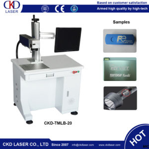 20W Fiber Laser Labling Machine for Marking Barcode pictures & photos
