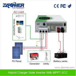 3000va 5000va Pure Sine Wave Hybrid Solar Inverter with MPPT Scc pictures & photos