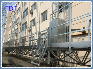 Hot Galvanized Tdt Mast Climbing Work Platform (SCP230/9D) pictures & photos