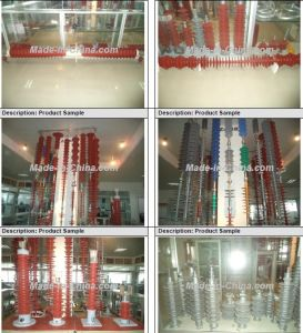 10kv ZnO Polymer Lightning Arrester Hy5ws-16.5/50L with Disconnector pictures & photos