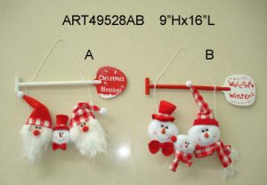 Santa and Snowman Christmas Decoration with Wood Paddles-2asst pictures & photos