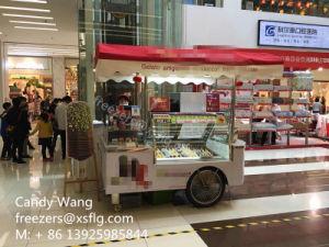 Italian Sticker Popsicles / Ice Cream Gelato Gelatin Showcase / Lolly Display Carts Trolley Freezers pictures & photos