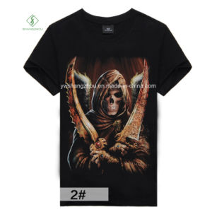 Factory Direct Fashion Short Sleeve 3D Printed Cotton Men T-Shirt pictures & photos