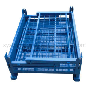 Steel Stacking Storage Container Wire Mesh Cage Metal Crates pictures & photos