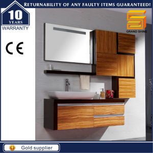Hot Selling Wooden Melamine Wall Mounted Bathroom Vanity Cabinet pictures & photos