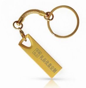 Free Logo Metal USB 2.0 Key Chain USB Flash Stick pictures & photos