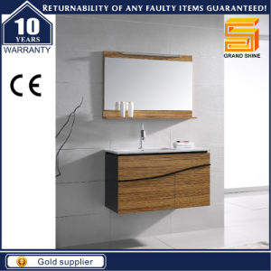 Sanitary Ware Wooden Veneer Bathroom Furniture Cabinet with Legs pictures & photos