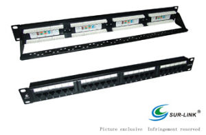 Dual Use IDC 24 Port UTP Cat. 6 Patch Panel with Back Bar (8 wires in one row) pictures & photos