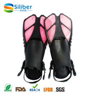 Hot Sale Swimming Fins Adjustable Submersible Long Fins Snorkeling Foot Swimming Flipper Diving Fins