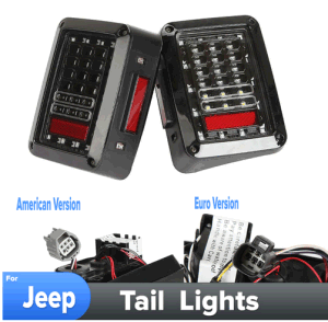 LED Tail Light with Running Brake Light/ Reverse Backup Turn Signals in Euro Version for Jeep Wrangler Rubicon X Jk 12V pictures & photos