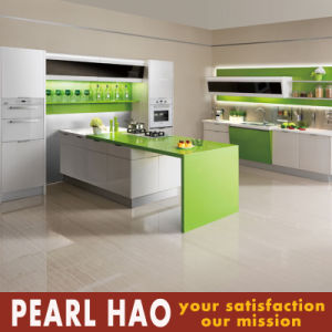 Modern MDF Green Wood Acrylic Kitchen Cabinet pictures & photos