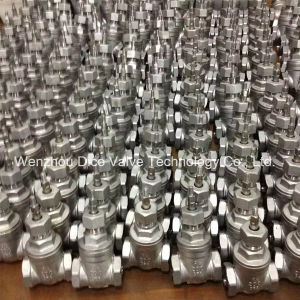 NPT Thread End Gate Valve with ISO9001 Certificate pictures & photos