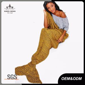 Knitted Mermaid Tail Fish Blanket pictures & photos