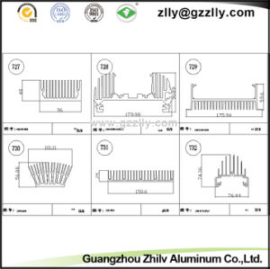High Quality Anodic Oxidation Extruded Aluminium Heat Sink pictures & photos