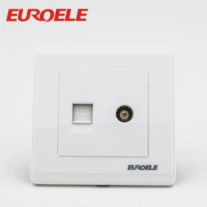 86*86mm Tel +TV Socket and Satellite +Tel Socket pictures & photos