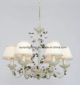 UL Approval Attractive 8 Arms Flora Chandelier with Fabric pictures & photos