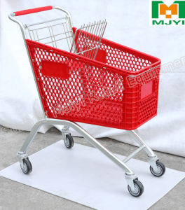 Plastic Shopping Trolley European Caddie Style Shopping Cart pictures & photos