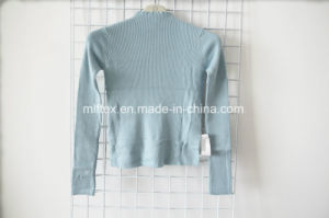 Blue Turtleneck Short Sweater for Women pictures & photos