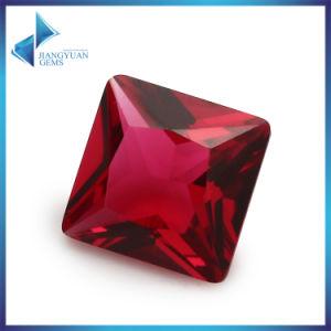 European Machine Cut Square Dark Red Glass Loose Gemstone pictures & photos