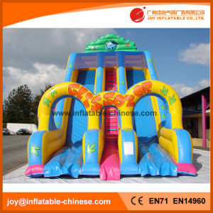 Funny Amusement Nature World Inflatable Slide (T4-253) pictures & photos