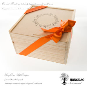 Hongdao Custom Christmas Wood Gift Packaging Box with Custom Logo Wholesale_L pictures & photos
