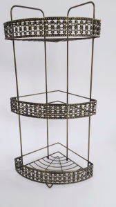 Copper Plating Chrome-Plating Metal Wire Bathroom Hanging Shower Caddy pictures & photos