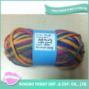 Cotton Wool Weaving Hand Knitting Blended Yarn for Knitwear pictures & photos
