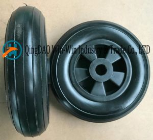 Environmental Protection Flat-Free PU Wheel for Castor Wheel (200*50) pictures & photos