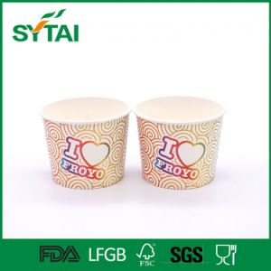 Disposable PLA Laminated Paper Ice Cream Cups with Lids pictures & photos
